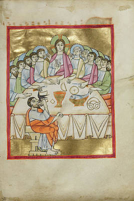 The Last Supper Unknown Regensburg, Bavaria Poster by Litz Collection