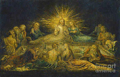 The Last Supper Poster by William Blake
