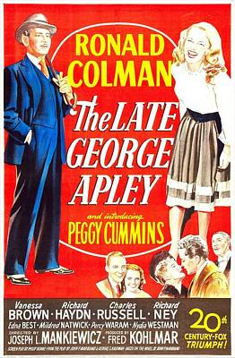 The Late George Apley, Us Poster Poster by Everett