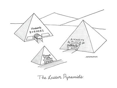 The Lesser Pyramids Poster by Mick Stevens