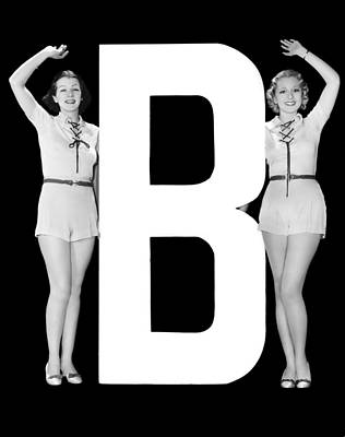 The Letter b And Two Women Poster