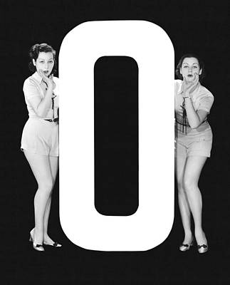 The Letter o  And Two Women Poster by Underwood Archives