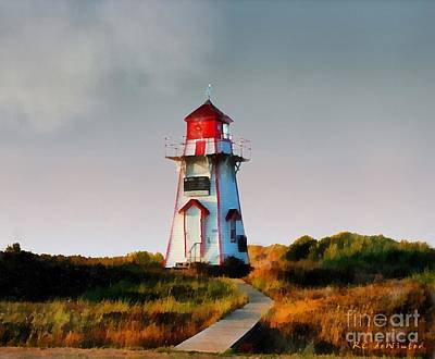 The Light At Covehead Harbour Poster by RC DeWinter