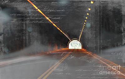 The Light At The End Of The Tunnel Poster by Janice Rae Pariza