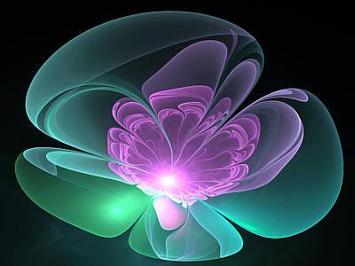 Poster featuring the digital art The Light Inside  by Svetlana Nikolova