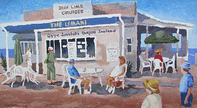 Poster featuring the painting The Limani by Tony Caviston
