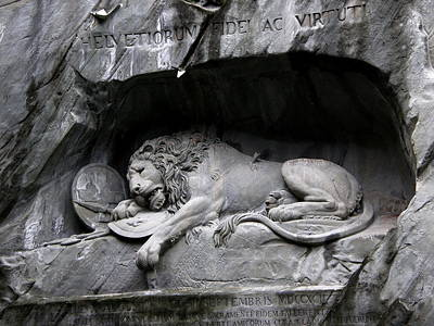 The Lion Monument IIi Poster by Paul Gioacchini