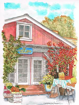 The Little Red Barn In Calabasas - California Poster by Carlos G Groppa