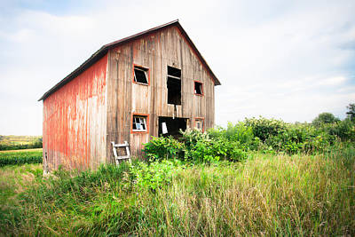 The Little Red Shack On Tucker Road - Old Barns And Things Poster
