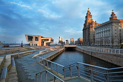 The Liver Buildings And The New Pier Poster by Panoramic Images