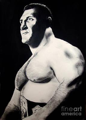 The Living Legend Of Wrestling Bruno Sammartino Poster by Jim Fitzpatrick