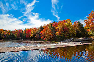 The Lock And Dam In The Fall Poster by David Patterson