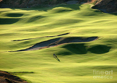 Poster featuring the photograph The Long Green Walk - Chambers Bay Golf Course by Chris Anderson