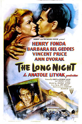 The Long Night, Us Poster, Barbara Bel Poster