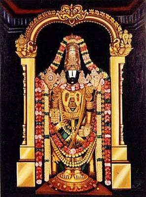 Poster featuring the painting The Lord Of Seven Hills by Ragunath Venkatraman
