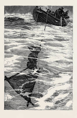 The Loss Of The Jeannette, Lieutenant Danenhowers Boat Poster by English School