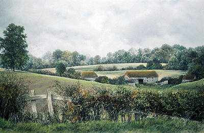 Poster featuring the painting The Lost Hedgerow by Rosemary Colyer