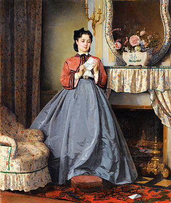 The Love Letter Poster by Auguste Toulmouche
