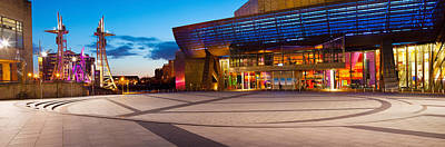 The Lowry Complex At Dusk, Salford Poster