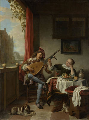 The Lutenist, Hendrick Martensz Poster by Litz Collection