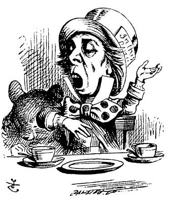The Mad Hatter Poster by John Tenniel