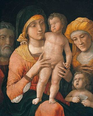The Madonna And Child Poster by Andrea Mantegna