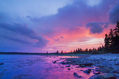 The Magic Hour In Acadia National Park Poster