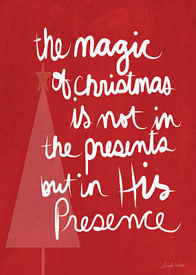The Magic Of Christmas- Greeting Card Poster by Linda Woods