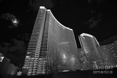 The Magnificent Aria Resort And Casino At Citycenter In Las Vegas Poster by Jamie Pham