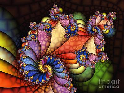 The Maharajahs New Hat-fractal Art Poster by Karin Kuhlmann