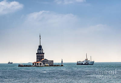 The Maiden's Tower In Istanbul Poster by Frank Bach