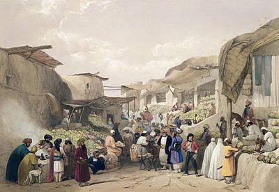 The Main Street In The Bazaar Poster