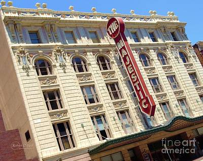 Poster featuring the photograph The Majestic Theater Dallas #1 by Robert ONeil