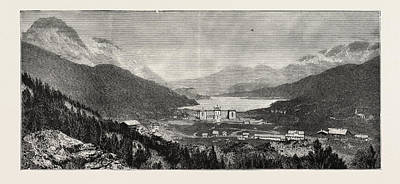The Maloja Valley, A New Health Resort In The Upper Engadine Poster by Swiss School