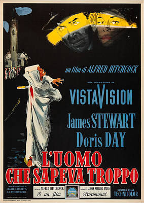 The Man Who Knew Too Much, Aka Luomo Poster by Everett