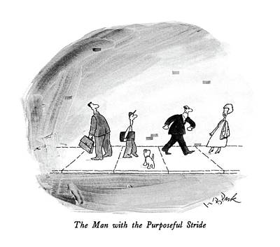 The Man With The Purposeful Stride Poster