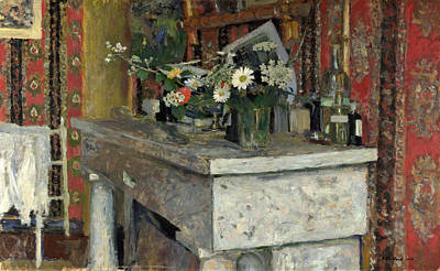 The Mantelpiece. La Cheminee Poster by Edouard Vuillard