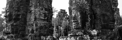 The Many Faces Of Bayon Poster by Lauren Rathvon