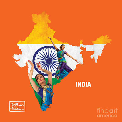 The Map Of India Poster by To-Tam Gerwe