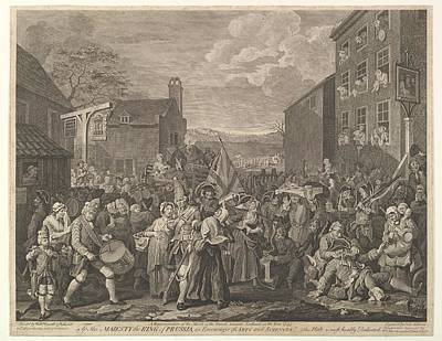 The March To Finchley--a Representation Poster by After William Hogarth