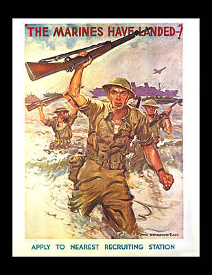 The Marines Have Landed Poster