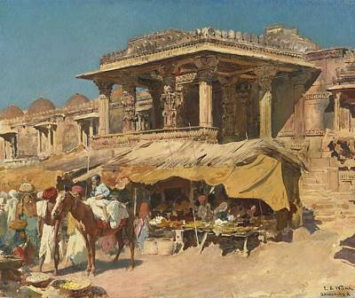 The Market In Ahmadabad Poster by Celestial Images