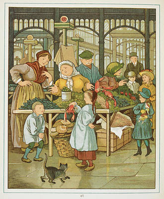 The Markets Of Paris Poster by British Library