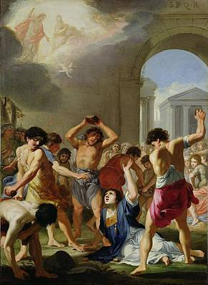 The Martyrdom Of St. Stephen, C.1623 Poster by Jacques Stella