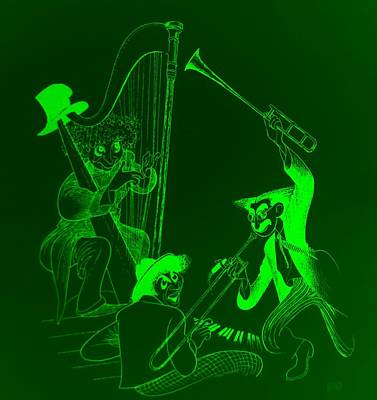 The Marx Brothers Green Poster by Rob Hans