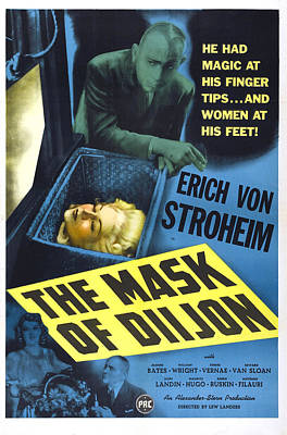 The Mask Of Diijon, Us Poster, Eric Von Poster