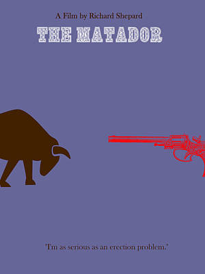 The Matador Minimalist Movie Poster Poster