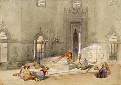 The Mausoleum Of Sultan Mohmed, Brusa Poster by Thomas Allom
