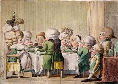 The Meal, C.1790 Poster by Carlo Lasinio