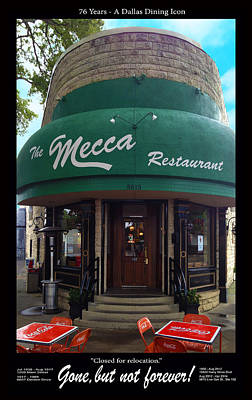 The Mecca Restaurant Poster by Robert J Sadler